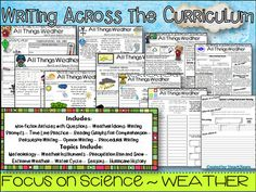 This packet includes 10 lessons that can be used to teach all about Weather.Packet includes:6 Creative Writing Newspapers (18 total writing prompts)2 Non-fiction Passages with Comprehension Questions      -Extension Activity: Write an opinion Piece about Hurricane Etymology 1 Newspaper that focuses on Weather Idioms