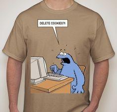 Cookie Monster Delete Cookies T-shirt | Blasted Rat