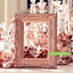 rose gold photo frame