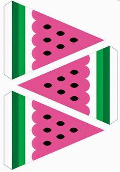 Watermelon Party Free Printable Kit.