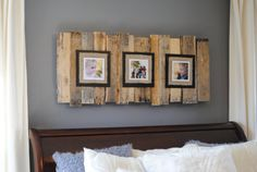 Large Upcycled Pallet Triple Picture Frame by TimelessMomentsbyT