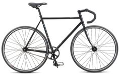 The horse I almost bought: Fuji Classic Track, single speed, 54cm, 22lbs, custom-butted chromoly, in black.