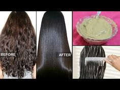 Get super silky & glossy hair in 1 day | DIY Hair Mask - Deep Conditioner - YouTube