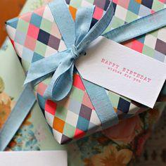 Modern Gift Wrap + Gift Tags | Bespoke Letterpress