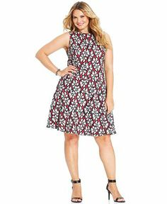 Anne Klein Plus Size Sleeveless Floral-Lace Dress - Plus Size Dresses - Plus Sizes - Macy's