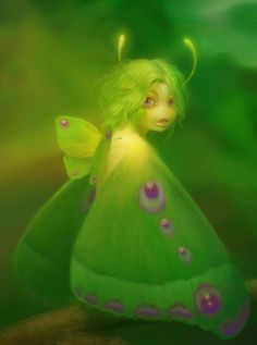 Fairy-like forest illustration creature. Art And Illustration, Illustrations, Fairy Dust, Fairy Land, Fairy Tales, Magical Creatures, Fantasy Creatures, Kobold, Love Fairy