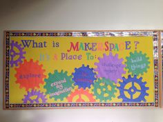 Elementary Library Makerspace Bulletin Board