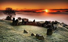 ...locally known as 'the fairy ring'...this is the Ballymacdermot Cairn located in County Armagh, Northern Ireland...this monument, lying on the slopes of Ballymacdermot Mountain close to Newry, is an extremely well preserved Neolithic burial site with three chambers...it can be dated between 4000 & 2500 BC...it is reputed to be haunted...