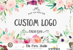 Custom Logo Design - introducing PAY-AS-YOU-GO - a custom logo design package thats affordable and completely based on your style and preferences to create a not-premade, non-templated, one of a kind logo perfect for your website, blog or Etsy shop. - - - - - - - - - - - - - - - - - - - - - - - - - - - - - - - - - - - - - - - SALE! SALE! SALE!  DEAL of the day Pre-made Logo SALE!  We are excited to launch a Pre-made Logo Daily Special in 2017!  DEAL of the day - only $19 (50% OFF) and today…