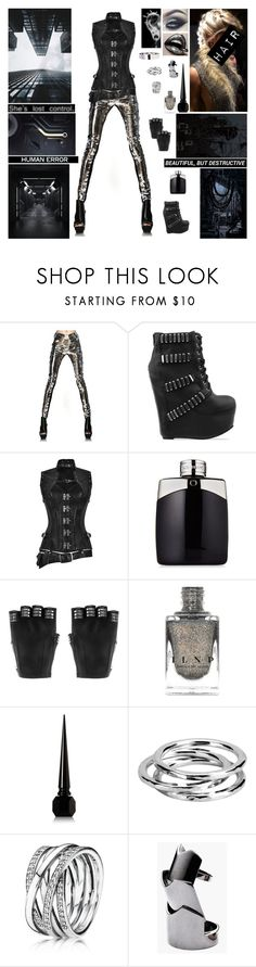 """▼ You can't wake up, this is not a dream. You're part of a machine, you are not a human being. With your face all made up, living on a screen. Low on self esteem, so you run on gasoline. ▼"" by blueknight ❤ liked on Polyvore featuring Gareth Pugh, Jeffrey Campbell, Majesty Black, Christian Louboutin, American Eagle Outfitters, Taro Horiuchi, Adina Reyter, Pandora and Eddie Borgo"