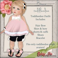 *Baby Pie* Bianca Toddleedoo Complete Outfit!