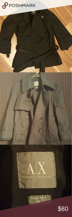 Armani Exchange trench coat for women Sharp looking trench coat for women. Comes in a x-small. Worn once. Almost brand new!! Armani Exchange Jackets & Coats Blazers