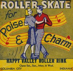 Happy Valley Roller Rink - Columbia City, Indiana - I spent MANY hours here.