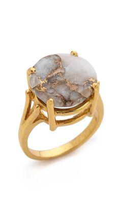 Gold | Gōrudo | Gylden | Oro | Metal | Metallic | Shape | Texture | Form | Composition | Heather Hawkins Angel Ring $155.00