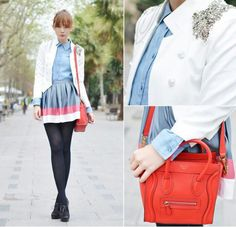 The small Celine bag is just too cute!