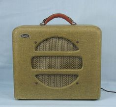 Vintage 1940s Supro National Dobro Guitar Amp   Tweed