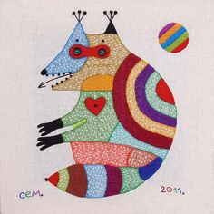 Иван Семесюк Textile works (30x30sm.) on Behance