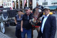 Drivers Christina Hansen, Tony Moran and Tommy Hughes. Demo mayor candidate Blasio of NY,USA wants to outlaw the horse and carriage trade. Rob Boyle, a native of Co. Leitrim is one of many Irish drivers that will be banned if Blasio and PETA have their way. Click through to read more at Irish Central (Sept 2014).