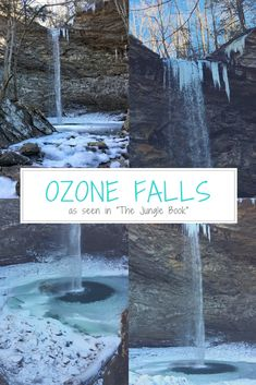 """Ozone Falls is a 0.8 mile there and back hike to the beautiful 110 foot waterfall. It was seen in the movie """"The Jungle Book."""" Sometimes, the river is really roaring, unfortunately, it was not the day of the video. It is a moderate to strenuous hike to get to the bottom of the falls. Take a look at the video of our hike to Ozone Falls!"""