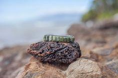 Leather Black & Green Brocelet Unisex Wrap Bracelet