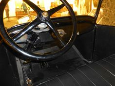 Model T Ford interior.  Photography by David E. Nelson