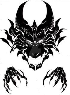 Viking Tattoos Discover Dragon head tribal by MisterSD on DeviantArt Dragon head tribal by MisterSD Dragon Head Tattoo, Tribal Dragon Tattoos, Dragon Tattoo Designs, Viking Tattoos, Dragon Artwork, Dragon Pictures, Tattoo Stencils, Dragon Tattoo Stencil, Tattoo Drawings