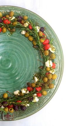 Scrumptious South Africa: Olive, Mozzarella and Rosemary Christmas wreath