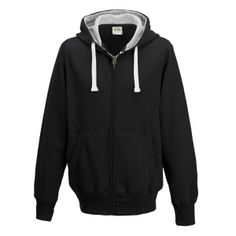 Chunky Zoodie hoodie Colour: Jet Black Sizes: S, M, L, XL, XXL FABRIC CONTENT: 80% Ringspun Cotton 20% Polyester FABRIC WEIGHT: 400gsm FEATURES: Full zip hoodie, Ear Phone Loops, Hidden Cord Feed Opening, Smartphone Compatible, Tear Away Label, Worldwide Responsible Accredited Production (WRAP) certified production, Side panels for stylish fit, Overlock stitching detail throughout, Double fabric hood with heather grey waffle fabric inner, Kangaroo pouch pocket and more.