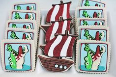 Pirate and Alligator Cookies