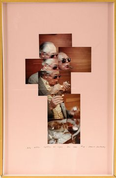 Billy Wilder lighting his cigar, photomontage by David Hockney, 1982 David Hockney Photography, Art Photography, Photomontage, David Hockney Joiners, Billy Wilder, Pop Art Movement, Design Typography, Photo Projects, Art Direction