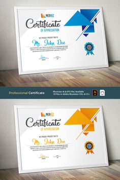 This Certificate features: 05 Different Color Scheme Total 10 File Included High-quality Clean & Creative Teemplate Fully Editable Ai & EPS format file Certificate Layout, Certificate Design Template, Brochure Design, Flyer Design, Certificate Of Appreciation, Poster Background Design, Powerpoint Template Free, Print Templates, Design Reference