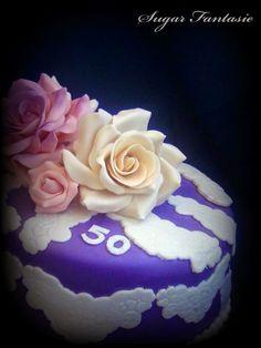 Sugar Fantasie: Romantikus csipke torta