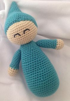 Crochet Baby Doll, Happy Sleeping Baby by ShesCraftyByCristy on Etsy https://www.etsy.com/listing/538435925/crochet-baby-doll-happy-sleeping-baby