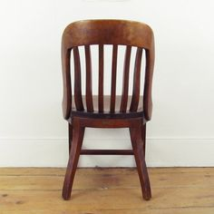 vintage wooden oak library chair bankers chair courthouse chair