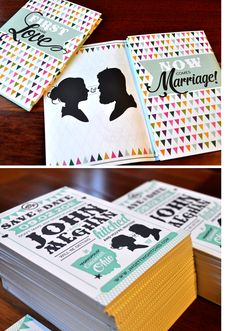 I love this modern one, too! Maybe a more modern style for the save the dates?