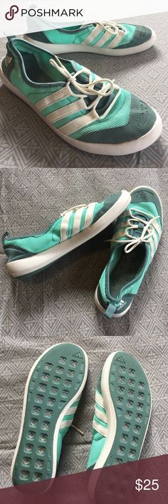 Adidas Women's Climacool Boat Sleek Water Shoe Excellent condition! Very clean and have only been worn a few times. These run small. I wear an 8, and these are just a little too tight.  These keep your feet cool and they look cool, too! Adidas Shoes Athletic Shoes