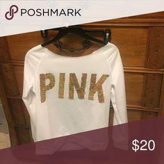 Pink off shoulder Knock off pink off shoulder stretchy material Tops Tees - Long Sleeve