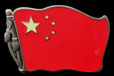 CHINA CHINESE SOCIALIST COMMUNIST REPUBLIC FLAGS BELT BUCKLES BOUCLE DE CEINTURE