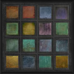Rainbow Tiles II Framed Painting Print