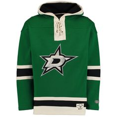 8efbf1e43b0 Men's Dallas Stars Old Time Hockey Kelly Green Lacer Heavyweight Pullover  Hoodie
