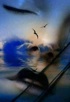 Chiara Anna....Tutto copre il silenzio e ne' vivo l'incanto..tra quella schiena di nuvole nere..perche' si può c'è sempre immaginare quell'azzurro immenso...che ti porta a volare tra sogni..che ti abbracciano e donano piccole illusioni di felicità