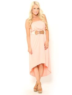 Belted High Low #Dress in Peach  #sylesforless