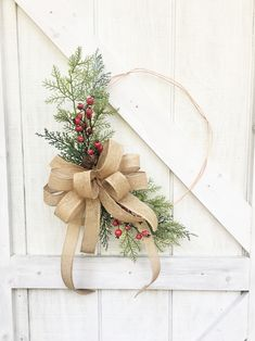 🌲 This Christmas Hoop Wreath for Front Door is bursting with glistening cedar greenery. The finishing touch is the large burlap bow that adds so much texture to the copper wreath. Modern Christmas, Simple Christmas, Christmas Diy, Tree Topper Bow, Tree Toppers, Christmas Wreaths For Front Door, Holiday Wreaths, Burlap Bows, Burlap Wreath
