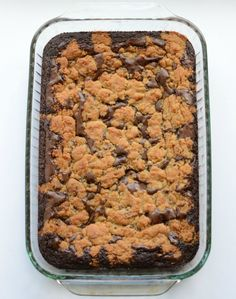 """Brookies. Have you heard of them?! They are a delightful combination of brownies and chocolate chip cookies and they are amazing! This recipes is a """"cheater"""" recipe because there's not really anything homemade to them. You know what though, that's why I love them! They take me about 8 minutes to pop in the oven …"""