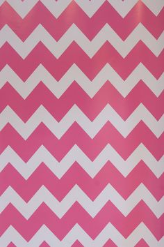 Pink & White Chevron Wrapping Paper