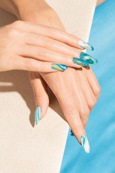 OPI Fiji GelColor Nail Art | Marbled Waves
