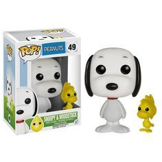 Snoopy and Woodstock Funko Pop Vinyl from the comic strip and TV show Peanuts by Charles M. Schulz Brought to you by Pop In A Box, the site Funko Pop! Peanuts Snoopy, Snoopy Et Woodstock, Peanuts Toys, Peanuts Movie, Disney Pop, Funko Pop Marvel, Pop Vinyl Figures, Desenho New School, Tv Movie