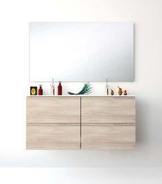 UNIBAÑO-Pack211-Baño Mueble de baño con encimera de 120cm y mueble portalavabo 2 cajones.Espejo de baño. PVP Recomendado 1375€