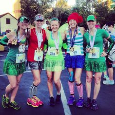 neverland-costumes. Captain Hook, smee, Peter Pan, tinker bell, and the crocodile. running race costume