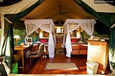 Lovely decorated luxury cabins in Kenya #african #safari #glamping